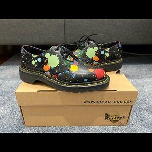 Dr Martens 1461 Splatter Smooth 3 Eye Flat Shoes